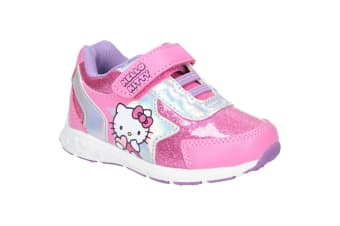 Leomil Hello Kitty Childrens Girls Touch Fastening Trainers (Fuchsia) (11.5 Child UK)