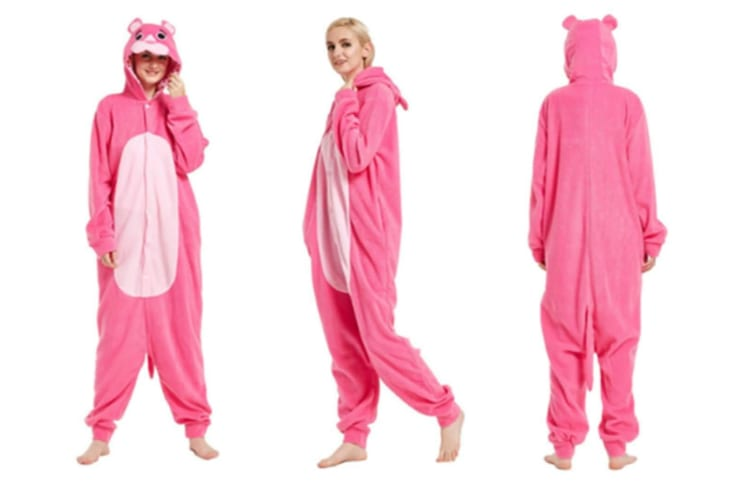 Cute Cartoon Character Animal One-Piece Pajamas For Adult L