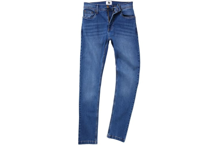 AWDis So Denim Mens Max Slim Jeans (Mid Blue Wash) (30L)