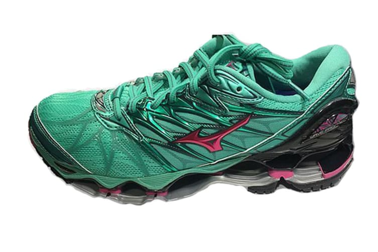 Mizuno Women's WAVE PROPHECY 7 Running Shoe (Billiard/Fuchsia Purple/Pacific, Size 7 US)
