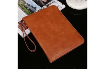 Genuine Luxury Leather Case Cover for Apple iPad 10.2 2019 7th Gen-Brown