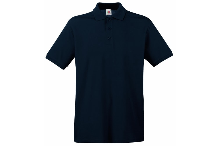 Fruit Of The Loom Premium Mens Short Sleeve Polo Shirt (Deep Navy) (S)