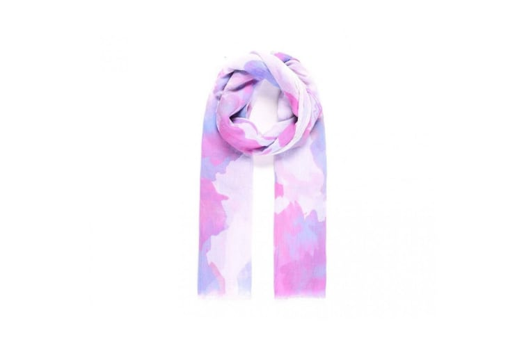 Intrigue Womens/Ladies Painting Print Scarf (Purple) (One Size)