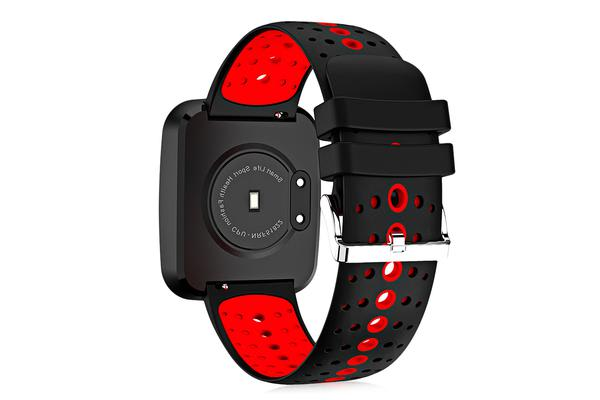 """Bluetooth V4.0 Smart Watch 0.96"""" Oled Heart Rate Blood Pressure Ip67 Red"""