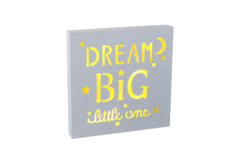 Dream Big Little One LED Sign (White) (20 x 20 x 2.5cm)