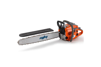"MTM 58CC Chainsaw Petrol Commercial 20"" Bar E-Start Tree Pruning Chain Saw HP"