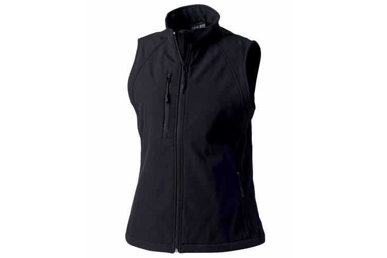 Russell Ladies/Womens Soft Shell Breathable Gilet Jacket (Black) (S)