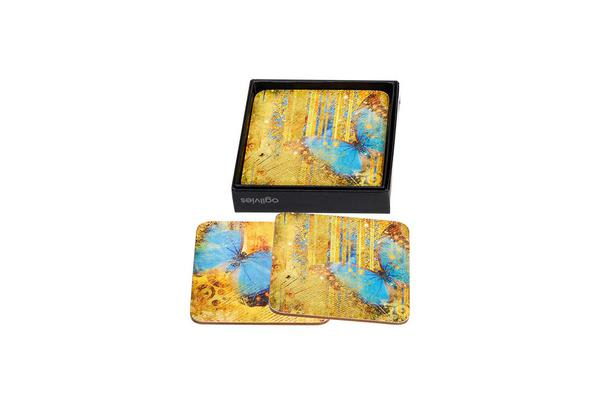 Ogilvies Design Butterflies Coasters Set of 6