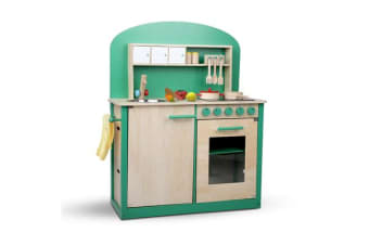 8 Piece Kid's Kitchen Play Set (Natural & Green)