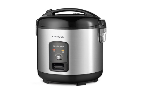 Kambrook Rice Master 10 Cup Rice Cooker & Steamer - Stainless Steel (KRC410)