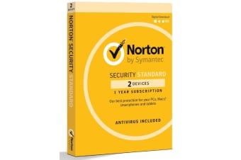 SYMANTEC Security Standard 2 Device Retail Box - Compatible with PC, MAC,