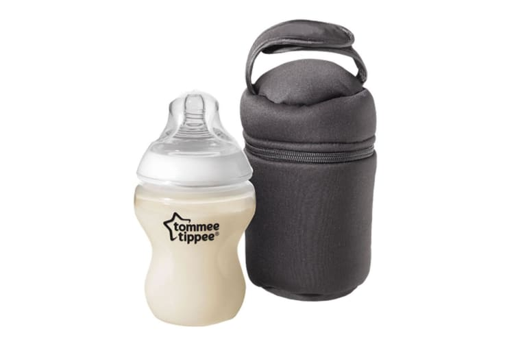 2pc Tommee Tippee On-The-Go Insulated Baby Bottle Nursing Bags Warmer Cooler BLK