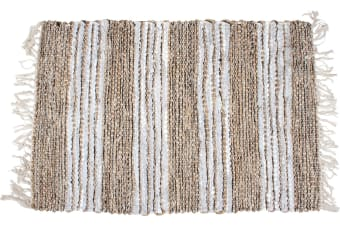 Hand Knit Cotton Jute Rug 60x90cm