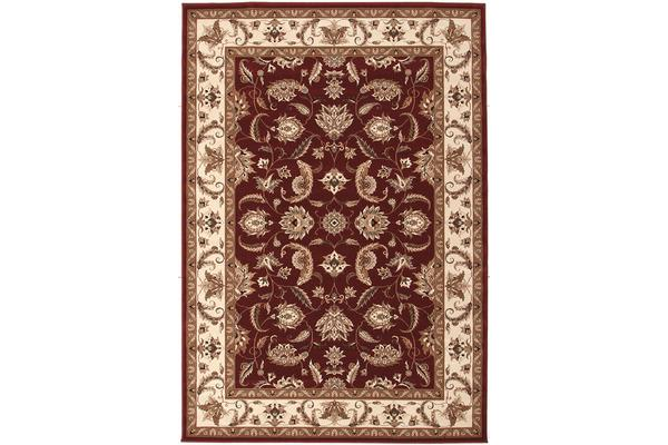 Stunning Formal Floral Design Rug Red 330x240cm