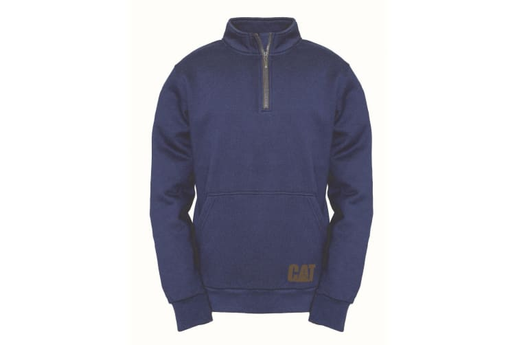 Caterpillar Mens AG 1/4 Zip Pull Over Jumper (Eclipse) (L)