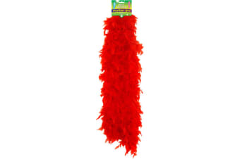 Henbrandt Feather Boa (Red) (One Size)