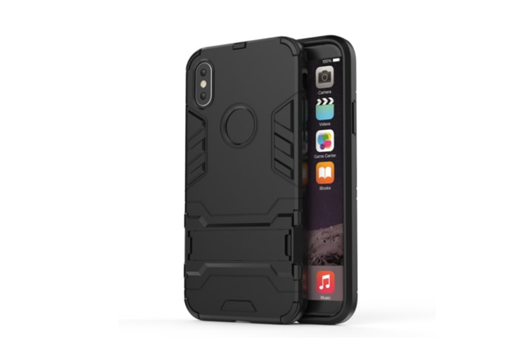 Full-Armoured Protective Case Of Steelman Stealth Bracket Phone Case For Iphone Black Iphone 8