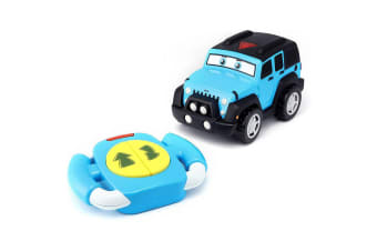 BB Junior Little Driver Jeep Wrangler Car Remote Control Toddler Toy 12m+ Blue