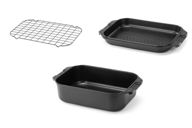 Ovela 3pc Roast & Grill Pan with Stainless Steel Rack