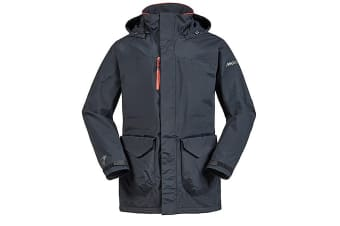 Musto Unisex Corsica BR1 Long Length Jacket (Black/Fire Orange)