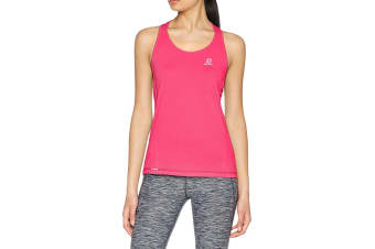 Salomon Agile Tank Women's (Pink Yarrow, Size Medium)