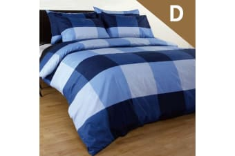 Double Size Magic Check Quilt/Doona Cover Set