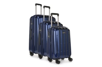 Antler Global 3 Piece Hardside Roller Luggage Case Set - Navy
