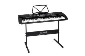 61 Keys Electronic Piano Keyboard LED Electric Music Stand Adaptor