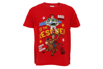 Toy Story Childrens/Kids Buzz Lightyear And Woody T-Shirt (Red) (2/3 Years)