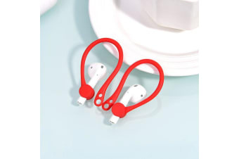 For Apple AirPods 1/2 Red Anti-lost Headphones TPU Plastic Hook
