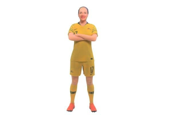 Kyah Simon Matildas 3D Printed Mini League Figurine - 18cm