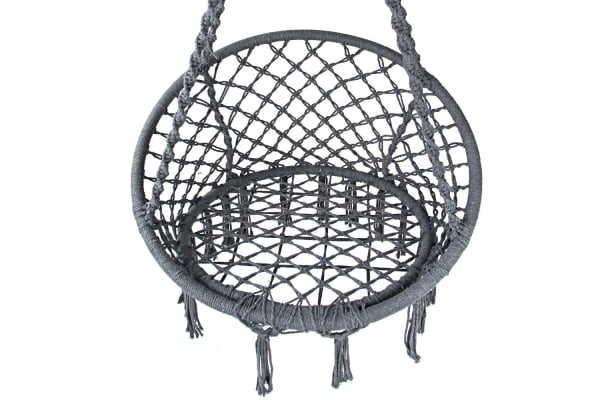 Woven Hammock Swing Chair (Grey)