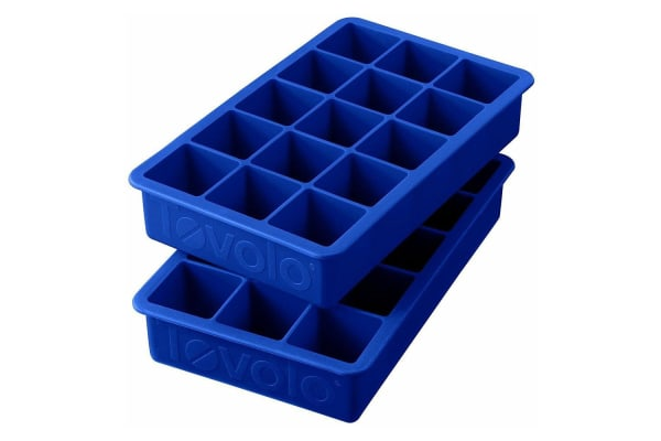 2pc Tovolo Silicone Perfect DIY Kitchen Ice Cube Freeze Mould Maker Tray Mold BL