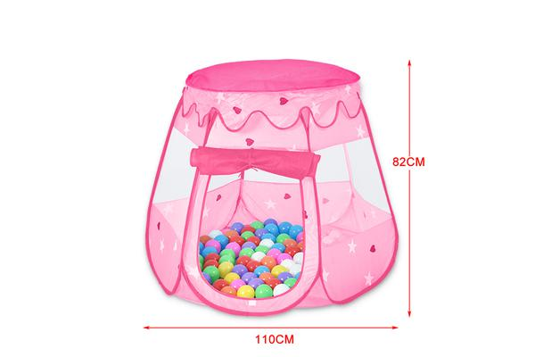 Ball Pit Play Tents for Kids 6-sided Playhouse PINK
