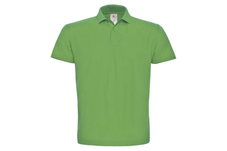 B&C ID.001 Unisex Adults Short Sleeve Polo Shirt (Real Green) (2XL)