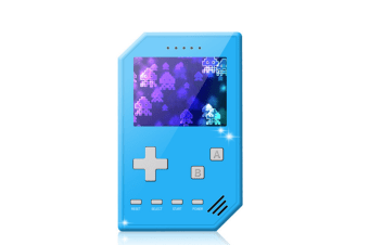 Select Mall Retro Handheld Games Console for Kids Adults 3 inch Screen Video Games with AV Cable Play on TV-Blue