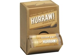 Hurraw! Lip Balm Almond 4.3g x 24 Display