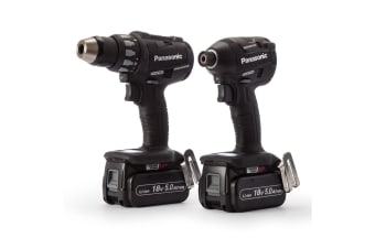 Panasonic EYC217LJ2G57 Hammer Drill & Impact Driver 18V Lithium Ion 5Ah Dual Voltage Combo Kit