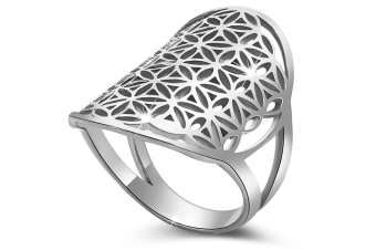 .925 Egyptian Flower Ring-Silver   Size US 6