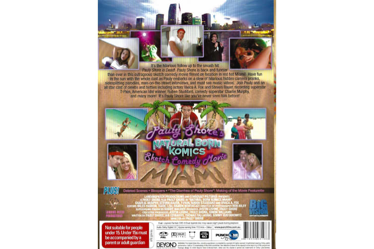 Pauly Shore's + Natural Born Komics + Sketch Comedy Movie - Region 4 Preowned DVD: DISC LIKE NEW