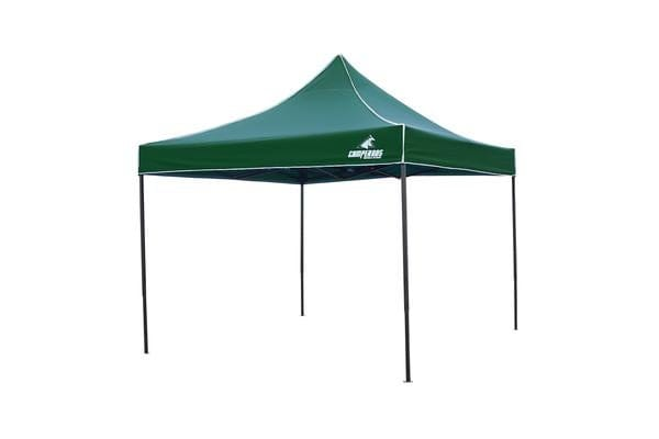 3x3m Gazebo Frame + Roof - GREEN