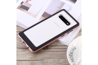For Samsung Galaxy S10+ Case Rose Gold Bumper X Shockproof PC and TPU Cover