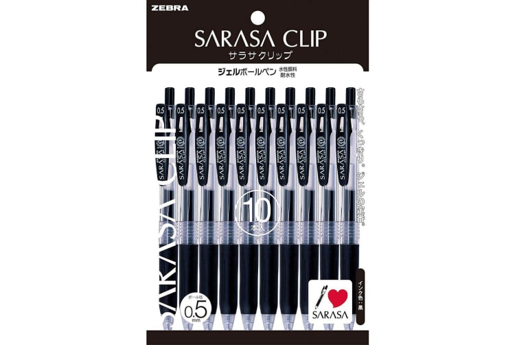 Zebra Sarasa Clip Gel ink Ballpoint pen 0.5mm 10 Black set
