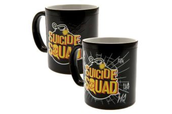 Suicide Squad Official Heat Changing Mug (Black/Yellow) (One Size)