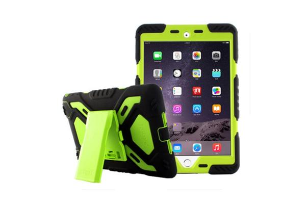 Generic iPad 2017 Model Shock proof Tough Case Protector -Green