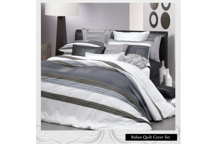 Rohan White Quilt Cover Set by Logan & Mason - Double