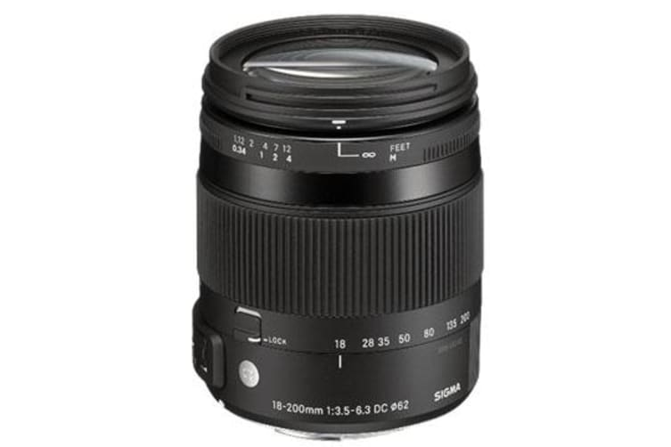 New Sigma 18-200mm F3.5-6.3 DC MACRO OS HSM Lens C Canon (FREE DELIVERY + 1 YEAR AU WARRANTY)