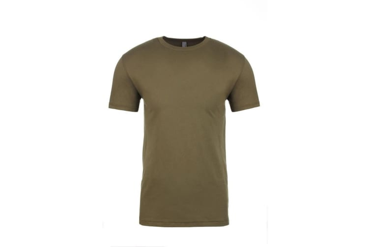 Next Level Adults Unisex Suede Feel Crew Neck T-Shirt (Military Green) (M)