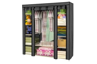Large Portable Clothes Closet with ShelvesGrey