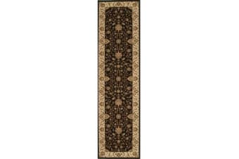 Stunning Formal Classic Design Runner Rug Brown